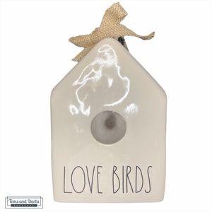 Rae Dunn LOVE BIRDS Bird House White